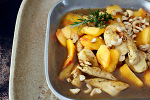 Nectarine, chicken and cashew. Photo / HOS