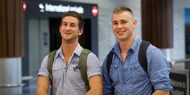 George Wilson and Jake Badrick have just returned from a month travelling South East Asia. Photo / NZ Herald