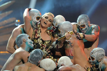 Ke$ha, please give up your day job, you're setting a bad example to our children. Photo / AP