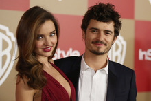 Hot couple Miranda Kerr and Orlando Bloom are in no rush to have more babies.Photo / AP