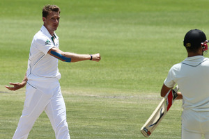 The world's top-ranked bowler Steyn offered a sympathetic thought at the end of the third day. Photo / AP