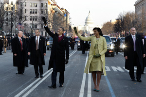 President Barack Obama and first lady Michelle Obama are again expected to walk along Pennsylvania Ave. Photo / AP