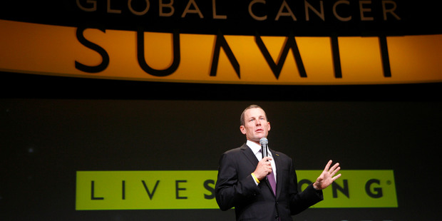 The impact on cancer charity Livestrong depends on what Lance Armstrong says and how his interview is received. Photo / AP