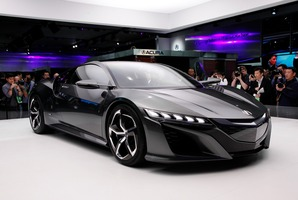 The Acura NSX Concept is shown at media previews for the North American International Auto Show in Detroit Photo / AP