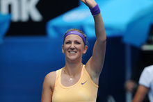 Victoria Azarenka beat Eleni Daniilidou in just 55 minutes. Photo / AP