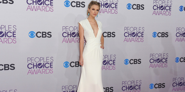 Taylor Swift the People's Choice Awards.Photo / AP