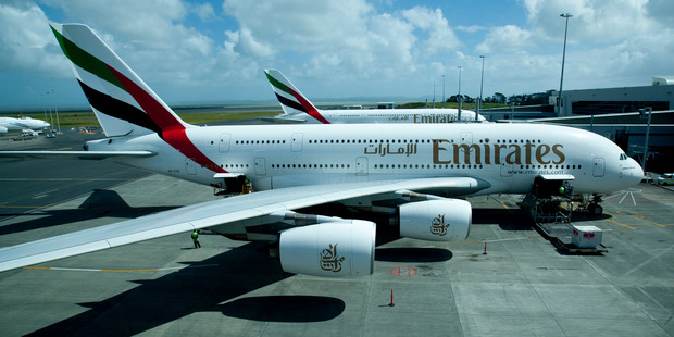The Emirates A380 super jumbo planes. Photo / NZ Herald