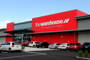 The Warehouse Group had the biggest gain of the day, climbing 3.23 per cent to $3.20. Photo / Dexter Murray