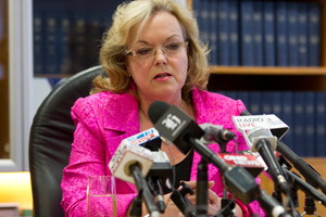 ACC Minister Judith Collins announced the Government would not cut ACC levies for workers and businesses as recommended. Photo / Mark Mitchell