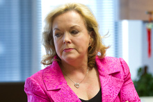 Judith Collins says her boxing trainer has praised her punches. Photo / Mark Mitchell