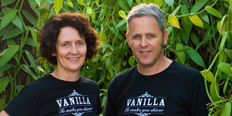 Jennifer and Garth Boggiss, of Heilala Vanilla, Te Puna. Photo / Supplied