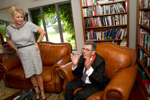 Wife, lover and friend: Sir Paul Holmes' wife has stood by him.  Photo / NZ Herald