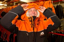 John Key prepares for his trip to the ice. Photo / Alan Gibson