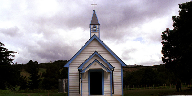 The church built by Bishop Pompallier on the Hokianga. The first Mass was celebrated on New Zealand soil on January 13, 1838. Photo / Ross White and Auckland Catholic Diocesan Archives