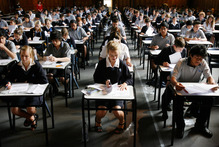 Students sitting an NCEA exam. Photo / Greg Bowker