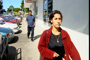 Lida (front) and Sarwar Rahimi were convicted of using documents with intent to defraud. Photo / 3News