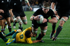 All Blacks Kieran Read in action against Australia during the 2012 Rugby Championship. Photo / Richard Robinson.