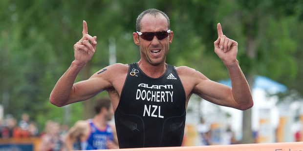 Bevan Docherty will join a strong field in tomorrow's inaugural Ironman. Photo / APN