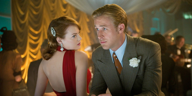 Emma Stone is wooed by Ryan Gosling in Gangster Squad. Photo / Supplied
