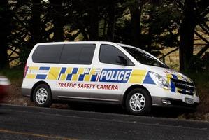 New Police speed camera van on SH1. Photo / John Stone