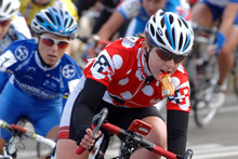 Cooke was the first cyclist to win Olympic and world road race gold in the same year in 2008. Photo / NZPA