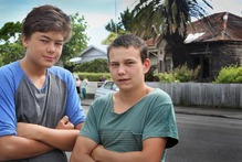 Brothers (from left) Tyrone Dodd-Edwards 14, and Watene Dodd-Robertson 17, helped rescue an elderly lady from her house that caught fire. Photo / Warren Buckland