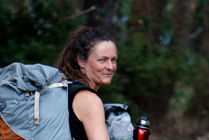 Annie Chapman, who is walking the Te Araroa Trail for better mental illness treatment. Photo / John Stone