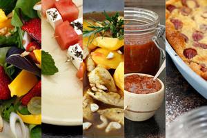Grant Allen's recipes for summer fruit. Photo / HOS