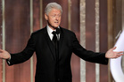 Bill Clinton onstage at the Golden Globes. Photo/AP