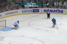 Jori Lehtera scores during the Russian Kontinental Hockey League All-Star game. Photo / YouTube