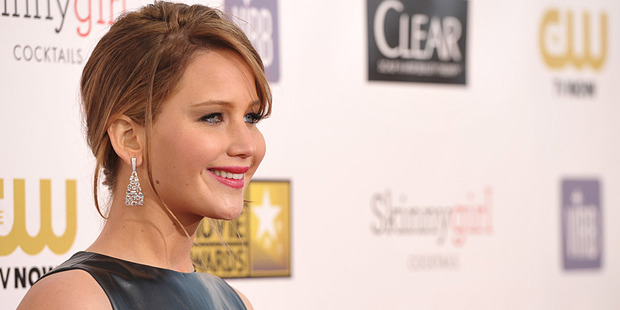 Jennifer Lawrence at the Critics' Choice Movie Awards in Los Angeles. Photo/AP