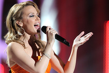 Kylie Minogue at the annual Nobel Peace Prize Concert in Oslo. Photo/AP