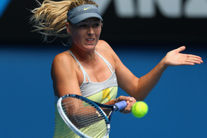 Maria Sharapova didn't lose a game in her opening round win at the Australian Open. Photo / Getty Images