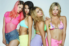 Rachel Korine, Selena Gomez, Vanessa Hudgens and Ashley Benson star in Spring Breakers. Photo/supplied