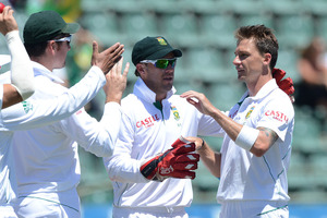Dale Steyn dismissed Pretoria-born Neil Wagner for a duck. Photo / Getty Images
