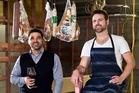 Michael Dearth with head chef Ben Bayly. Photo / Babiche Martens