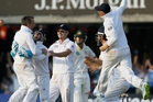 England's players are cock-a-hoop after crushing Australia in the second Ashes test at Lord's. Photo / AP