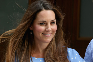Kate Middleton departs The Lindo Wing with her new son. Photo / Getty