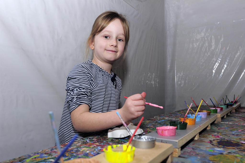 Life is beautiful with colours for Carys Logan, 7.