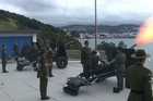 New Zealand was one of the first Commonwealth countries to mark the birth of the Royal baby today with a 21-gun salute. The New Zealand Defence Force held the salute at Point Jerningham in Wellington at noon.