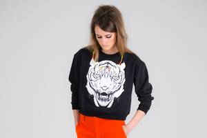 Fashion designers give the common sweatshirt a makeover. Photo / Greg Bowker