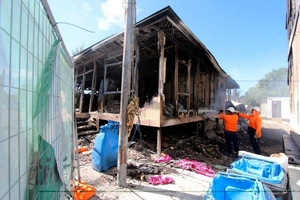 Friday's riot and fire at the detention centre in Nauru is estimated to have caused $70 million damage. Photo / AP
