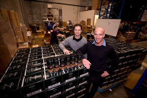 Managing directors of Avalanche Coffee Paul Tobin (left) and Stefan Marusich spent 14 months developing their blend of freeze-dried instant and fresh roasted coffee. Photo / Dean Purcell