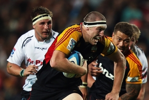Lock Brodie Retallick is readying for a return to action against the Crusaders after being sidelined with an ankle injury. Photo / Getty Images