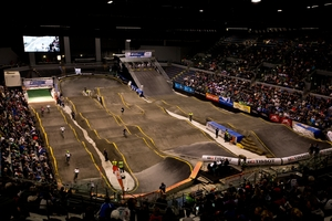 """The indoor track has been described as """"embarrassing"""" and a """"lottery"""". Photo / Dean Purcell"""