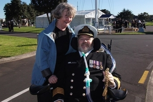Captain Tom Rae with his wife Rosemary. He was paralysed after a quad bike crash in 2010.