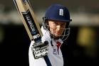 England's Joe Root celebrates reaching 150. Photo / AP