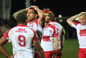 Quade Cooper was booed whenever he touched the ball. Photo / Getty Images
