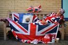 Royal supporter Terry Hutt has been camped for nine days outside the Lindo Wing of St Mary's Hospital.Photo / AFP
