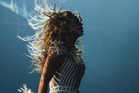 Beyonce's hair got caught in a fan during a show in Montreal. Photo / AP